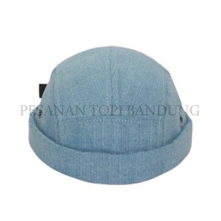mikihat five panel blue jeans